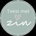 Tekst met zin Logo